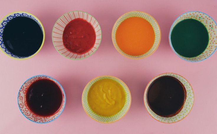 Raíza ensina a fazer sete cores diferentes, usando diversos legumes