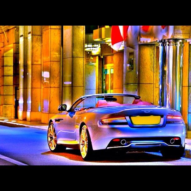 Super cool shot of an Aston Martin