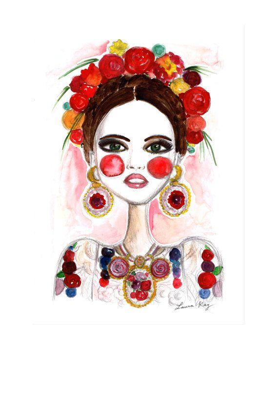 Frida Kahlo Frida Art Fashion illustration