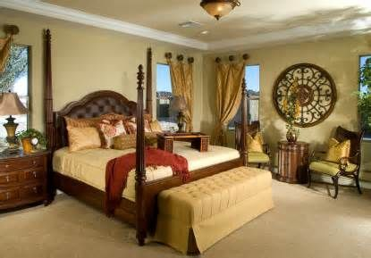 Tuscan bedroom, incorporating elements