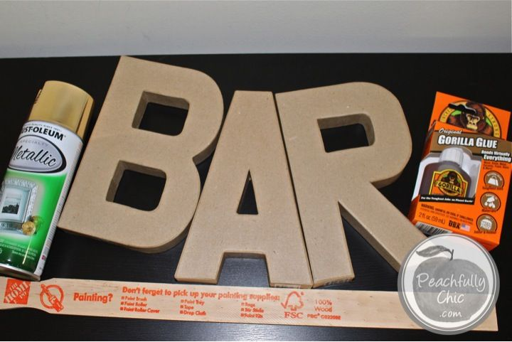 Easy How-To Instructions to Create a Bar Sign for your wedding or your home! Save money and time by following these steps! DIY Bar Sign made simple.