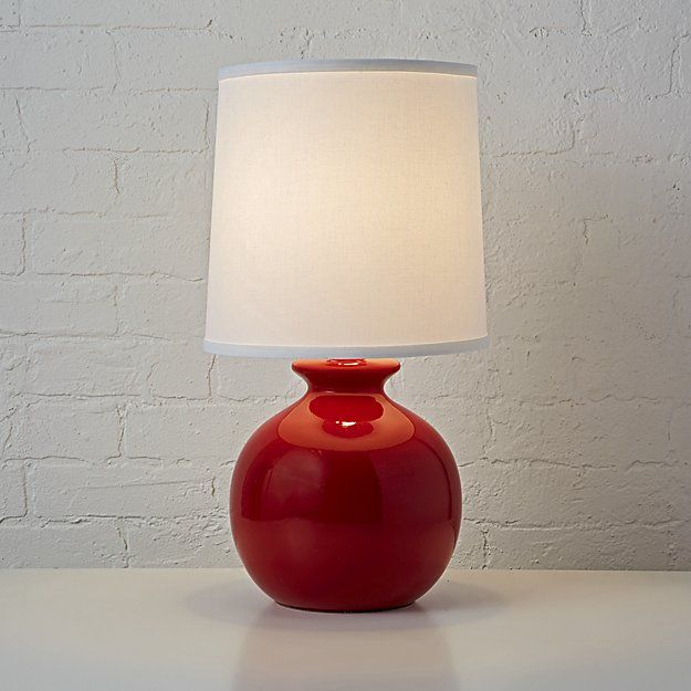 Lamp Gumball Red On Red Table Lamp Lamp Table Lamp