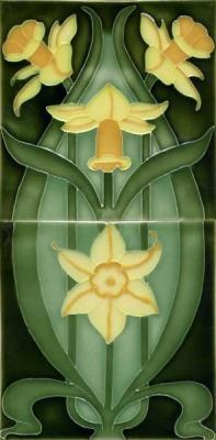 Ford Craftsman porteous tiles   double daffodils tiles