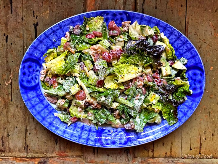 Lighter Waldorf Salad recipe on www.unionoffood.com