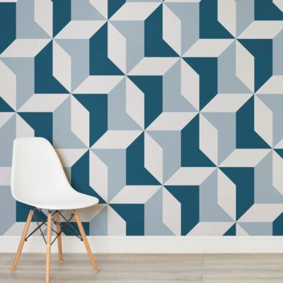 abstract-blue-geometric-design-square-1-wall-murals