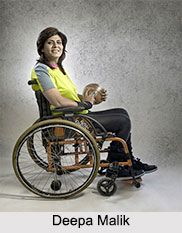 Deepa Malik an Indian Paralympian. She has been an inspiration to many by her participation in adventurous games of national and international level. for more visit the page. #indiansports #paralympics #sports
