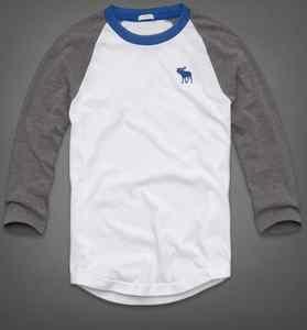 Abercrombie & Fitch Men's T Shirt A Round Mountain Baseball SZ L Muscle Shirt $23.50