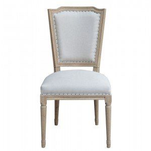 Weathered Oak Studded Dining Chair