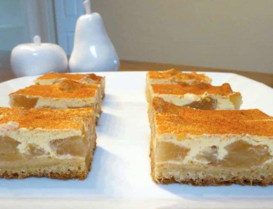 Best Ever Apple And Sour Cream Slice Recipe