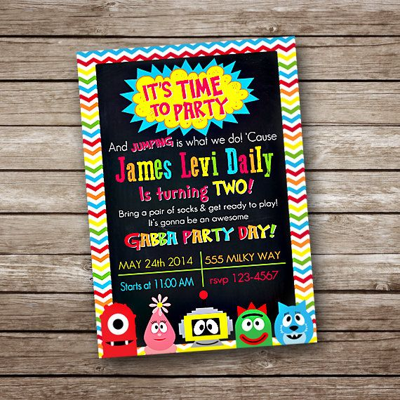 Yo Gabba Gabba Birthday Party Invitation  by BonTempsBeignet, $15.00
