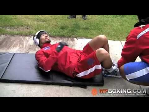 Manny Pacquiao's Ab Workout.  Ten minutes of crazy.