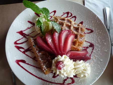 icing sugar sprinkled on a good dessert