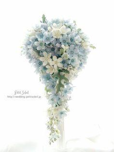 ブルースターのウェディングブーケTweedia Bouquet