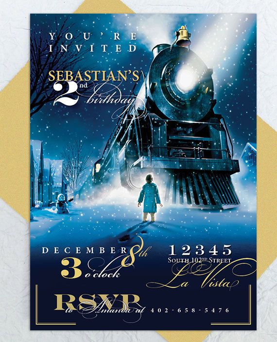 Polar Express Party Invitation  Custom by emilyedsondesign on Etsy