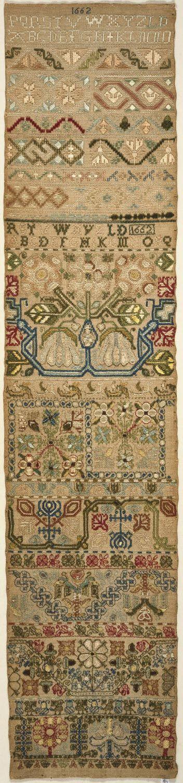 Philadelphia Museum of Art - English sampler, 1662