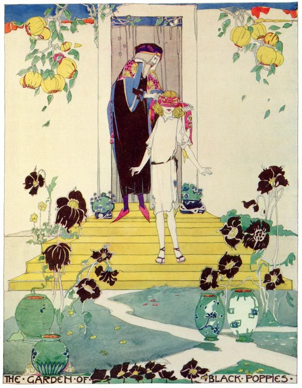 'A House of Pomegranates' by Oscar Wilde, illustrations by Jessie M. King. Published 1915 by Methuen & Co. Source