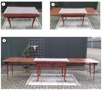 Antieke XXXL tafel, uitschuifbare eettafel 3.55 m, 14 pers!