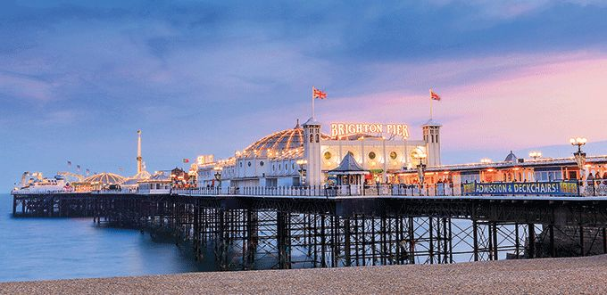 Brighton is the epitome of a traditional British seaside resort with its deckchairs on the beach, Victorian pier and wealth of seafront entertainment.