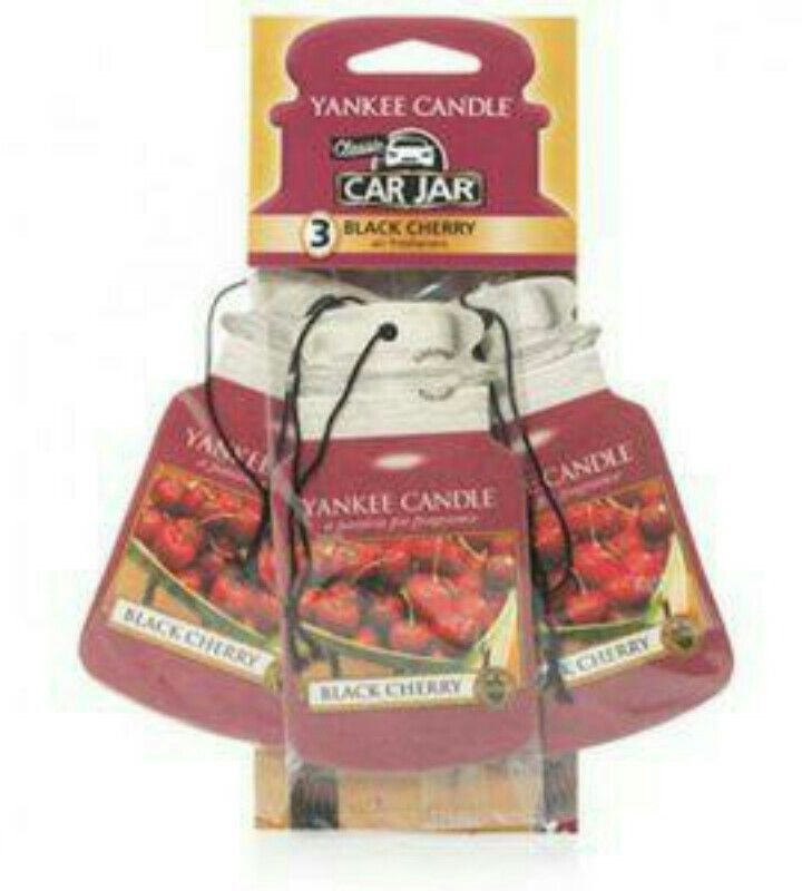 Yankee Candle 3 pack Car Jar Air Freshener 'Black Cherry' Fragranced