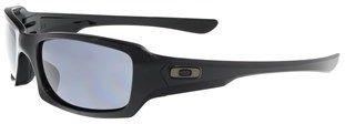 Oakley Oo9238 923804 Fives Squared Polished Black Rectangle Sunglasses.