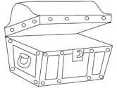 pirate treasure chest coloring page