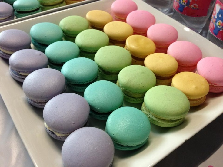 rainbow macarons for care bear birthday party