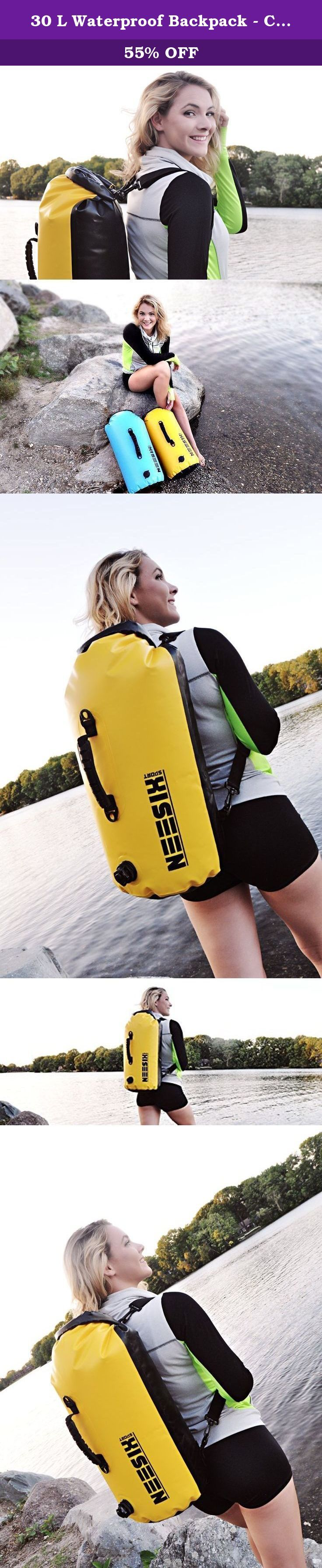 30 L Waterproof Backpack - Compression Backpack for Canoeing, Camping, Travelling, Kayaking, Boating, Hiking. Features - 100% Waterproof Main Compartment. - 30 Liters Storage Capacity. - Two Way Valve for Inflation or Compression. - Made of High Quality Marine Grade Waterproof Vinyl. Lifetime Guarantee - The manufacturer, NEESIX offers a Lifetime Guarantee. If you are not completely satisfied with the bag, return it for a free replacement or your money back. The warranty is not applicable…