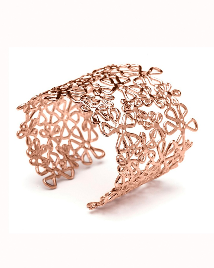 Rose Gold Flower #Lace #Cuff