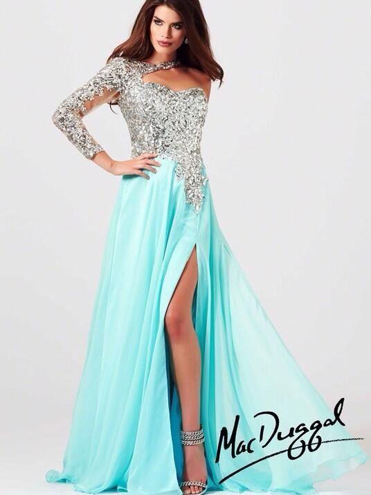 sleeved prom dress