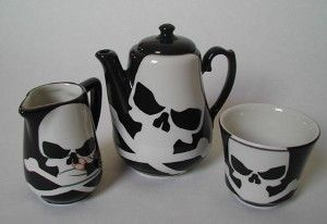 #skull #tea set @ Paige Goss