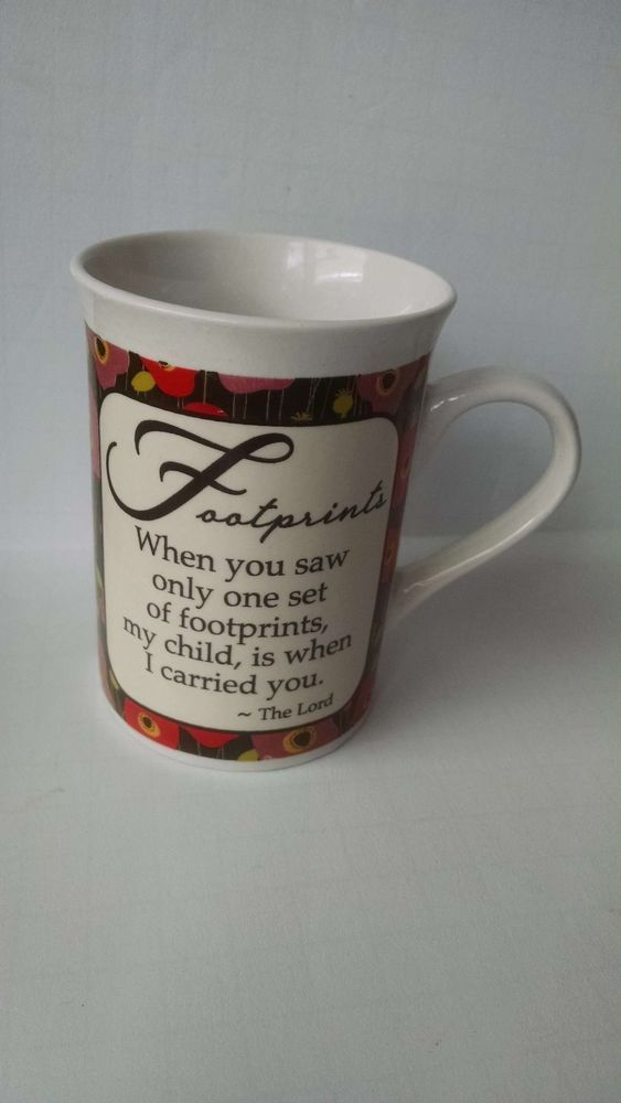 Inspirational Motivational Footprints Poem Collectible Coffee Mug Bay Island Pre