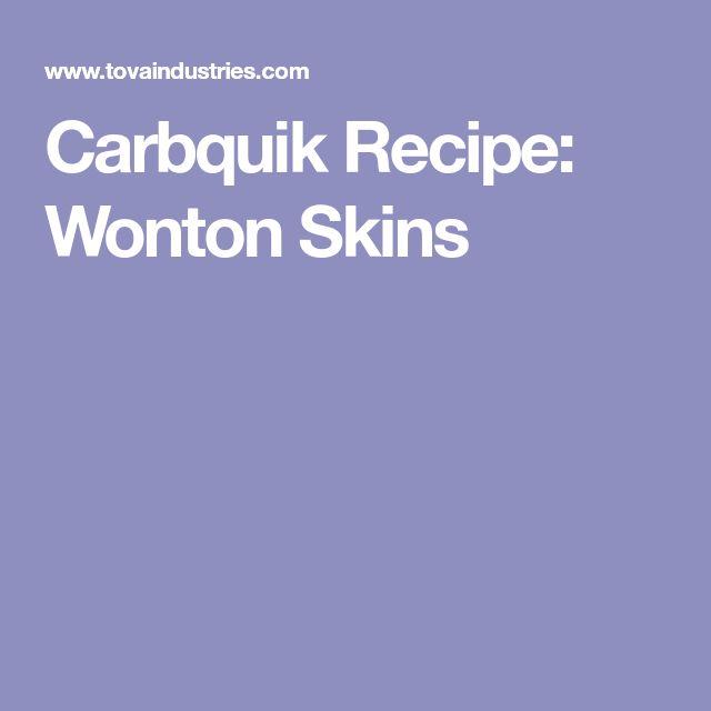 Carbquik Recipe: Wonton Skins