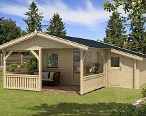 Gartenhaus Flex 50-A mit 300cm Terrasse + Anbau