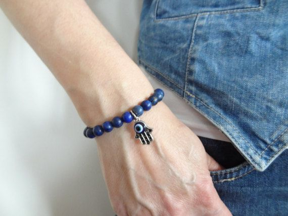 EXPRESS SHIPPINGDark Blue BraceletLapis Lazuli BraceletHand