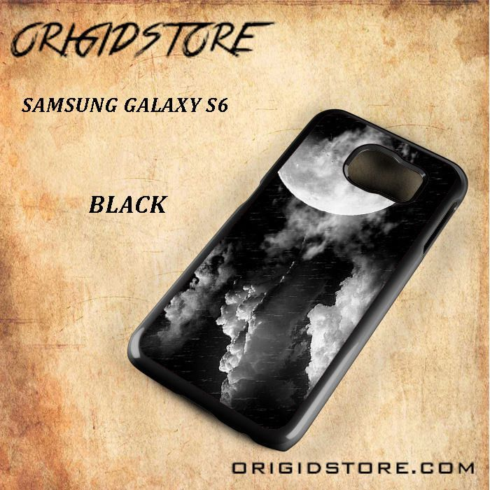Storm Full Moon White and Black For Samsung Galaxy S6 - Gift Present Multiple Choice