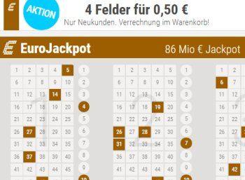 Euro-Jackpot: 86 Millionen am Freitag zu gewinnen, Teilnahme ab 50 Cent https://www.discountfan.de/artikel/technik_und_haushalt/euro-jackpot-86-millionen-am-freitag-zu-gewinnen-teilnahme-ab-50-cent.php Der Euro-Jackpot ist mit 86 Millionen Euro wieder prall gefüllt. Was viele nicht wissen: Die Chancen auf den Jackpot sind höher als beim klassischen deutschen Lotto-Jackpot. Discountfan.de stellt die attraktivsten Angebote im Netz zum Oster-Jackpot zusammen. Schnäppchen-Sp