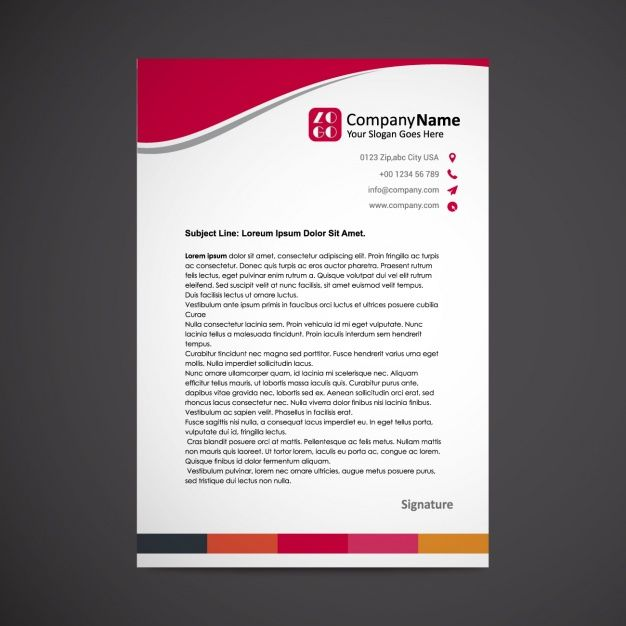 22 best Letterhead images on Pinterest Contact paper, Letterhead - psd letterhead template