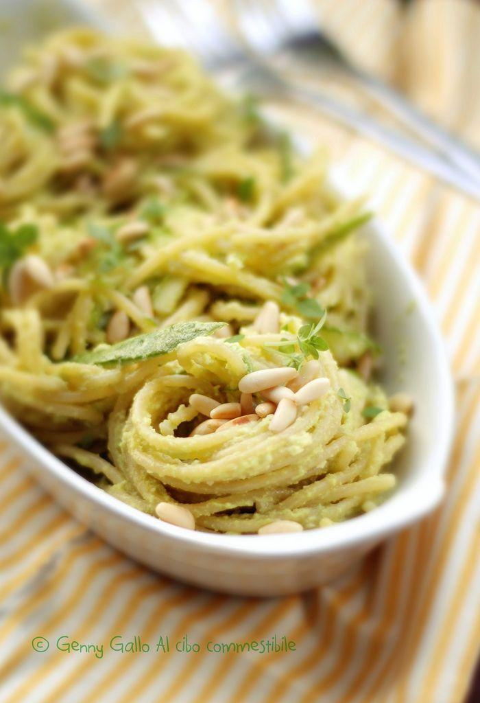 Spaghetti al Pesto di Zucchine