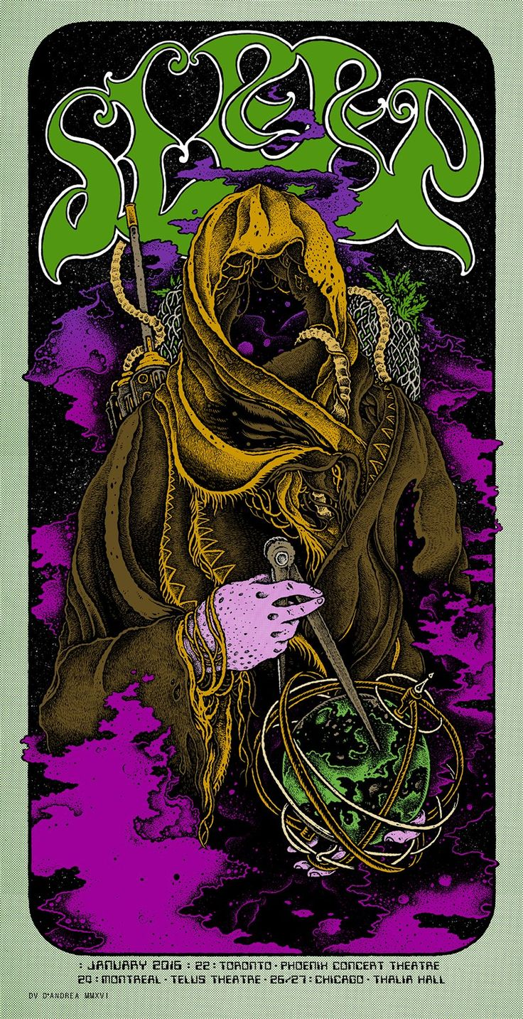 Sleep - Concert Poster By David D'Andrea
