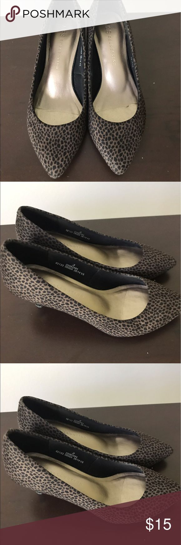 Mark & Spencer shoes, little heel. Very comfortable, worn once, conditions like new , cute leopard print. European size 36 Marks & Spencer Shoes Heels
