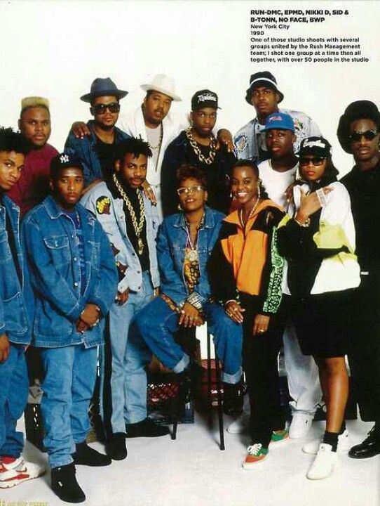 Run-DMC, EPMD, Nikki D, Sid & B-Tonn, No Face, & BWP (NY, 1990)