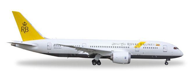 1/500 Herpa Royal Brunei Airlines Boeing 787-8 Dreamliner Diecast Model
