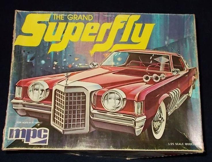 MPC Superfly Pimp Car 1974 Plastic Model Kit Junk Yard Parts Only | eBay