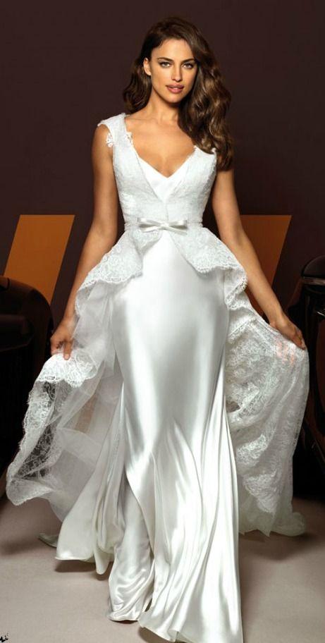 Trying to tell us something? Irina Shayk models wedding dresses as rumour has it…