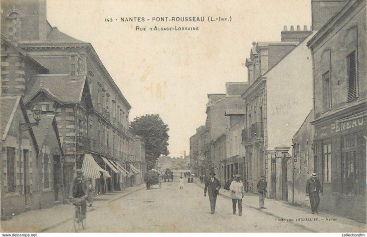 Cpa France 44 Nantes Pont Rousseau Rue D Alsace Lorraine