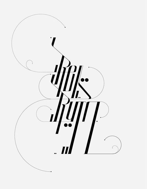 Type Treatments 2011 by David Mascha, via Behance