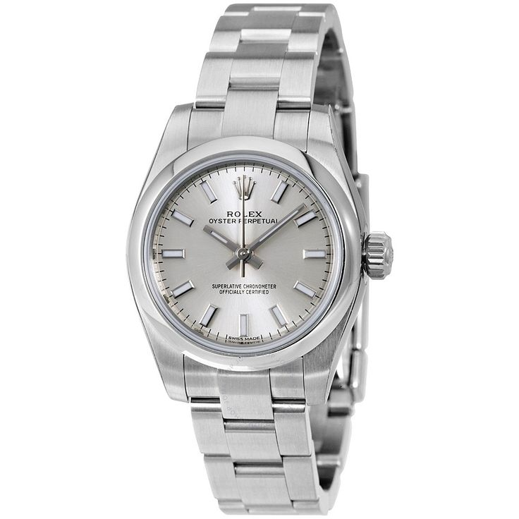 Rolex Oyster Perpetual Silver Dial Stainless Steel Ladies Watch 176200SSO - Oyster Perpetual Date - Oyster Perpetual - Rolex - Watches - Jomashop