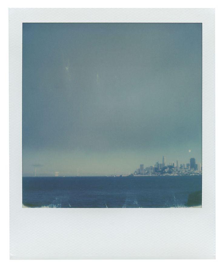 Polaroid 600 Film: San Francisco skyline from Alcatraz ferry