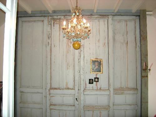 Oude deuren voor kast