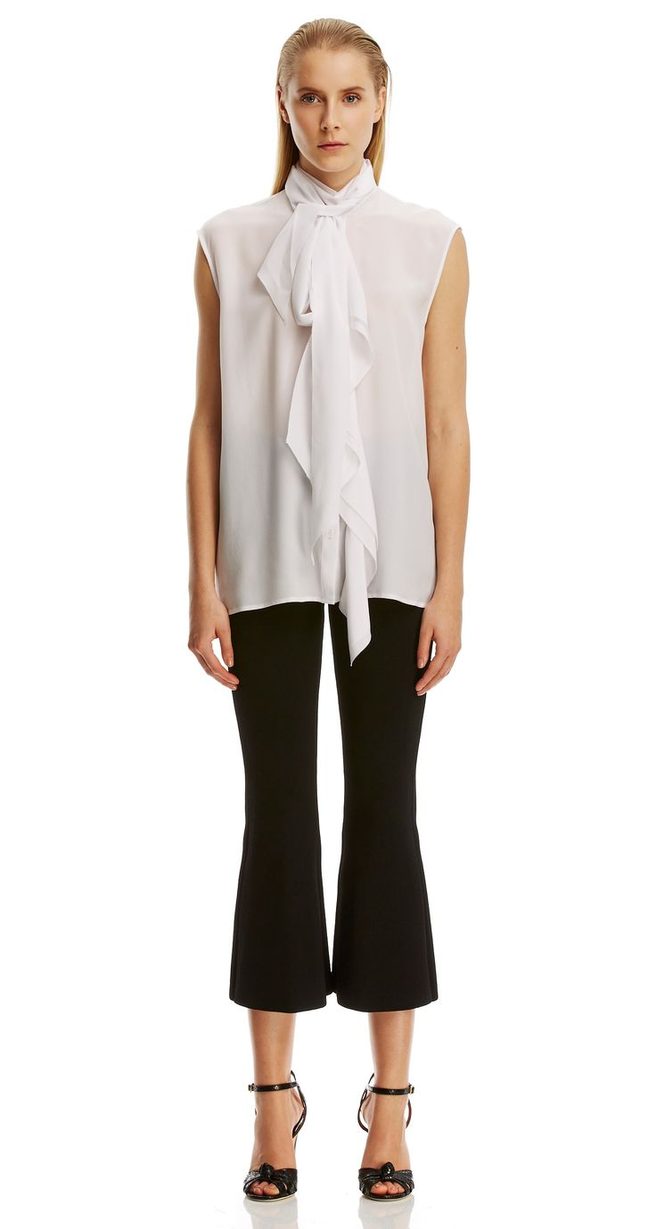 CDC S/LESS RUFFLE FRONT BLOUSE - New Arrivals | SCANLAN THEODORE